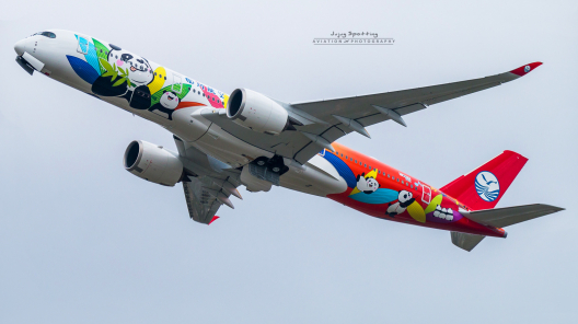 Newly delivered Sichuan Airlines A350