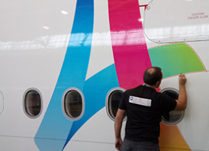 Air France and Adhetec partner for Paris 2024 - decals aircraft