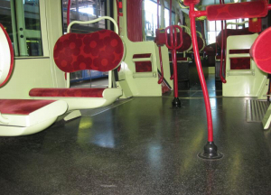 Self adhesive flooring train