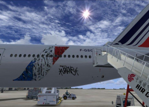 Jon One event exterior customization aircraft adhetec