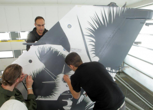 stencil positionning aerospace adhetec